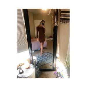 Strapless body con midi dress